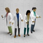 A selection of female doctors in 