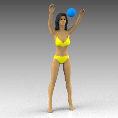 Females playing with ball or 