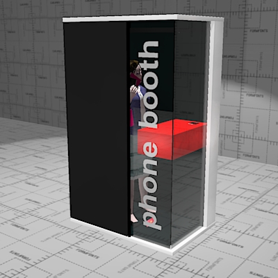 Martela Hush phone booth. 135 x 88 x 220cm. Privat....