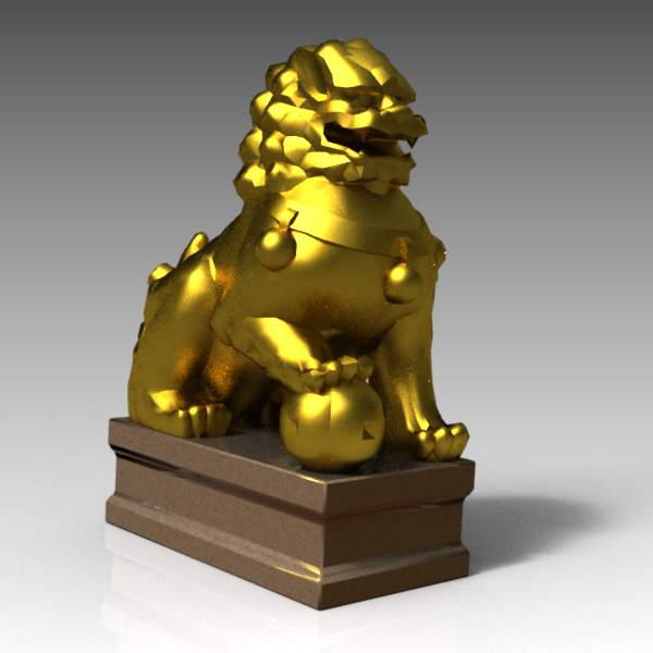 Decorative Chinese lion statue, as 