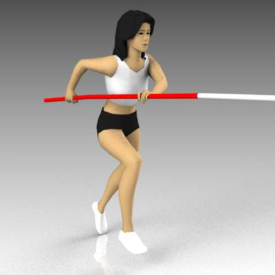 Two configs of pole vaulters during 