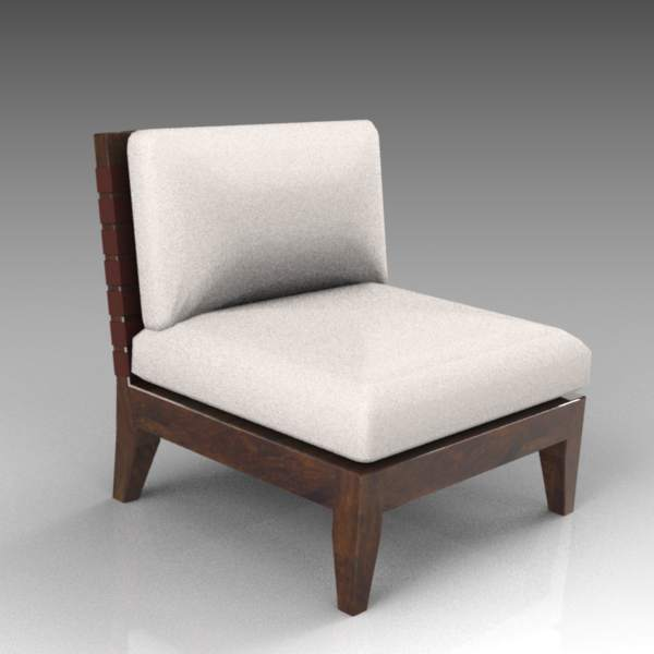 Jackson armless lounge chair by 
