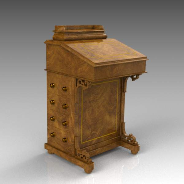 A small Davenport or escritoire 