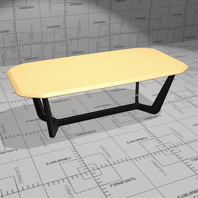 Buzzi Trihex conference and dining table. Top soli....