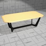 Buzzi Trihex conference and dining table. Top soli...