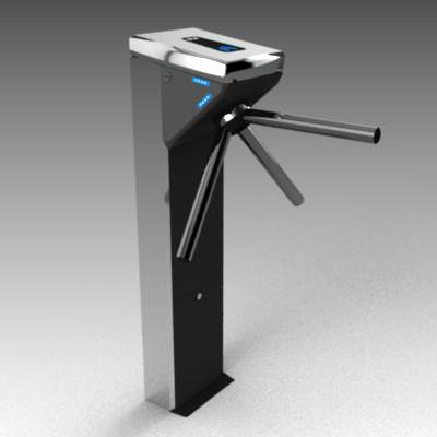 Wolstar III turnstile with card reader.