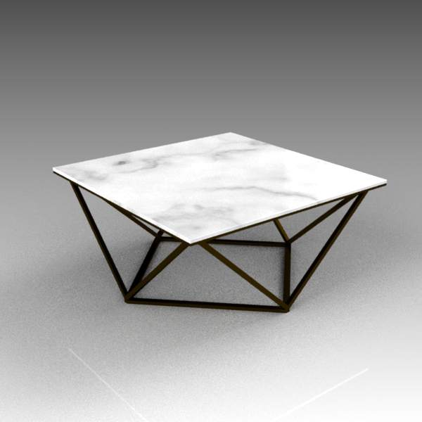 Davis marble-topped coffee table.