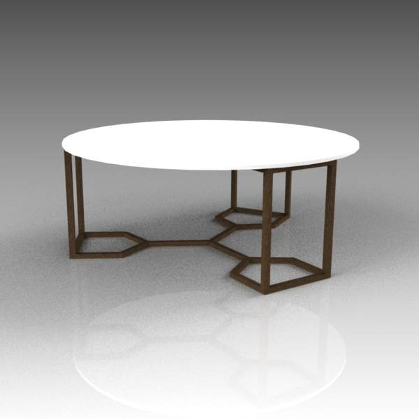 Naomi circular coffee table. 39"