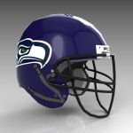 Seattle Seahawks football helmet