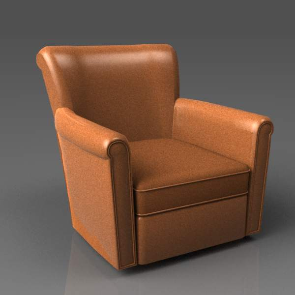 Irving Leather Swivel Armchair from 