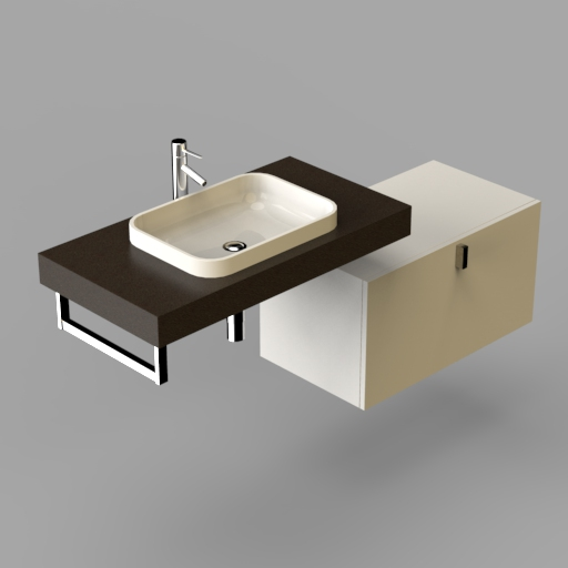 Sand Rectangular Washbasin.