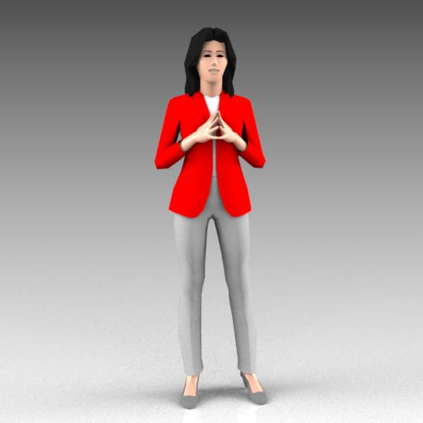 Variations of female standing 