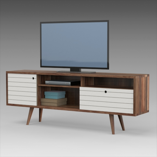 Lewis mid century tv stand. Includes 