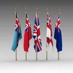 Flags of the British services. 