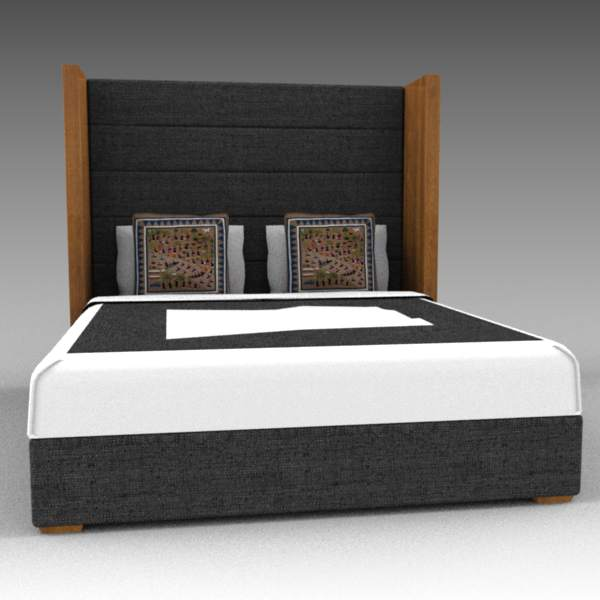 Upholstered panel bed by 