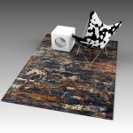 Abstract rug. Nominal 8ft long, but 