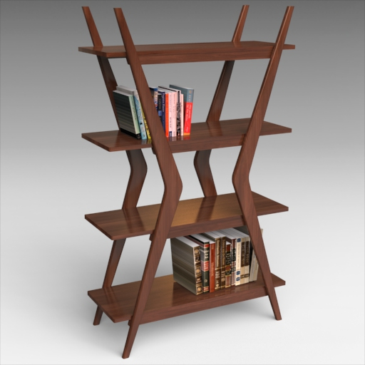 Woodcrest Bookcase. Note: Books are 