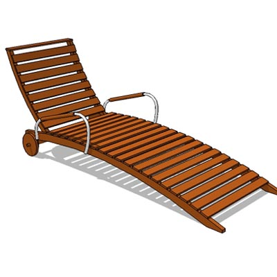 Solid teak constructed reclining deck or pool loun....