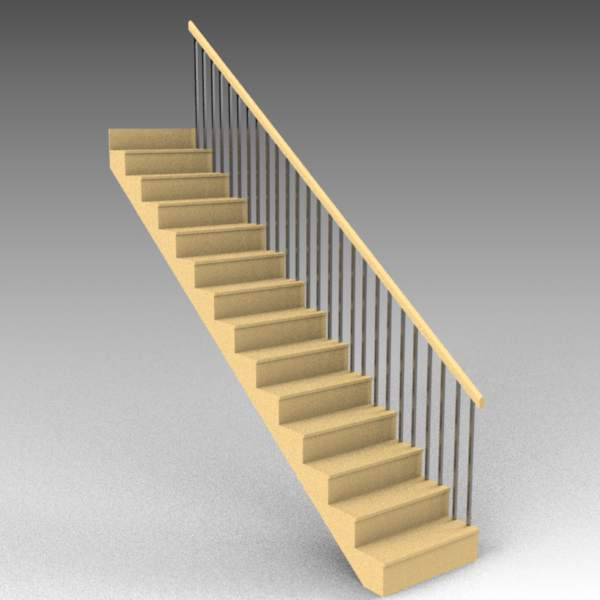 EZ stairs are basic, low-poly 