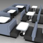 Diner benches and booths, based 
