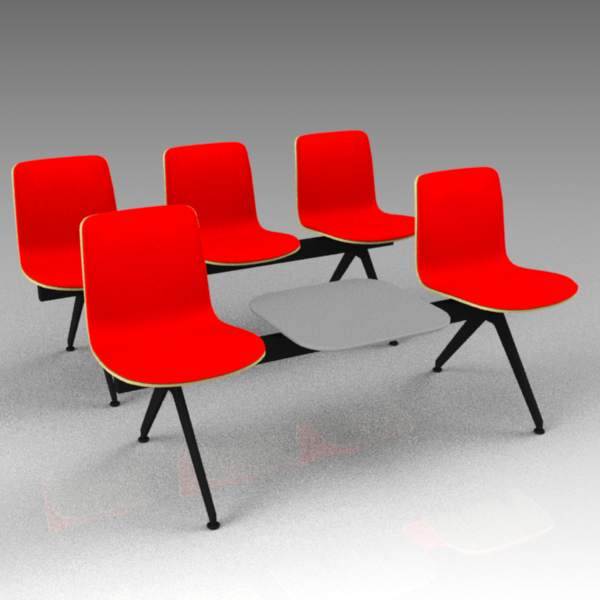 Sola beam seating by Martela. 