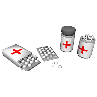 Two types of medical pill compartments and strips ....