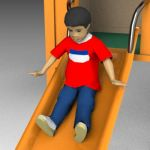 Child on slide - for use with Jungle Gym or other ...