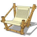 Bamboo frame , seat with additional ribs padding f...