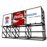 Triple mounted billboard with 7 meter by 7 meter b...