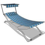Stand alone hammock with adjustable sun shade