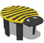 Small cartoon stool for kid's room , kindergarden
