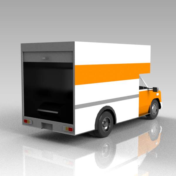 Haulage / delivery van with rear open..