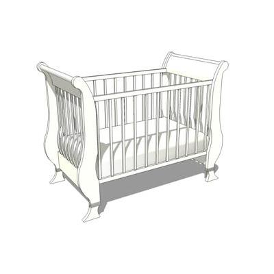 Sleigh Crib shown in white. Could be used with bab....