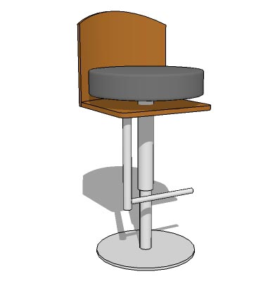 Adjustable height bar stool.