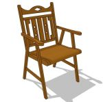 Indonesian teak wood dining chair