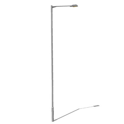 FREE DOWNLOAD: Single streetlight; 12m high. Kindl....