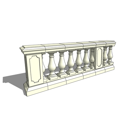 Series of reconstituted stone components to form 9....