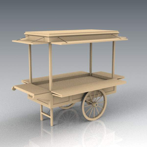 Mechandising/Promotional cart for malls, markets o....