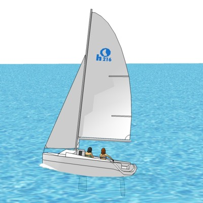 Trailerable Sailboat 21'-6