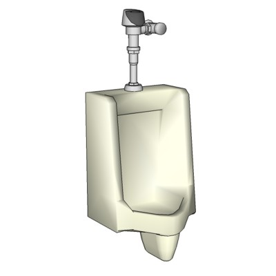 Contemporary Urinal of a more rectilinear design t....