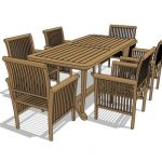 Indonesian rectangular teak dining set
