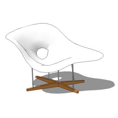 Charles and Ray Eames designed La Chaise in 1948 f....