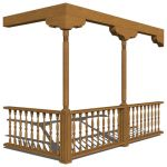 View Larger Image of woodencolumnandballusterset16764.jpg
