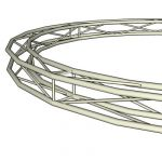Square Frame Circular Truss. Height=290mm; Diam=5m...