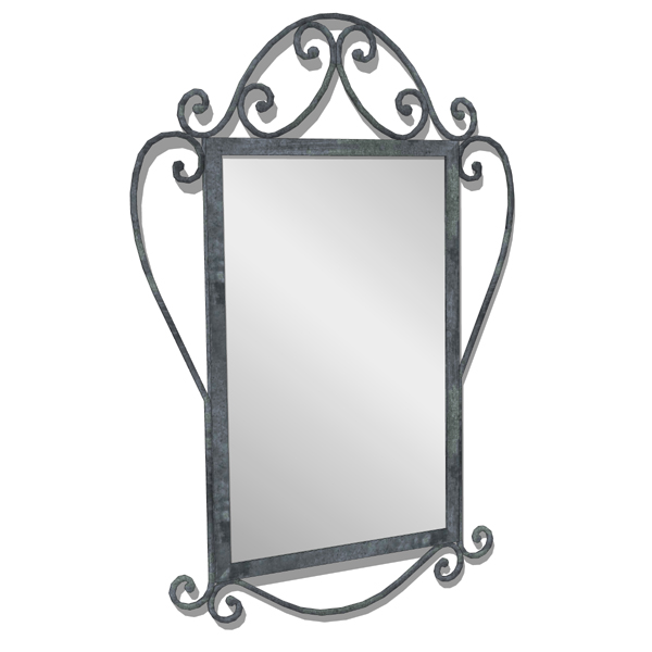 Spanish style wrought iron mirror. Can be combined....
