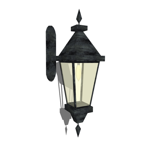 Low poly colonial style lantern that can be repeat....