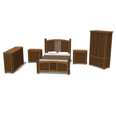 Shaker Bedroom Set. Set includes (2) Nightstands, ....