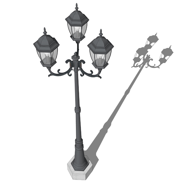 Antique style cast iron lamp post for outdoor deco....