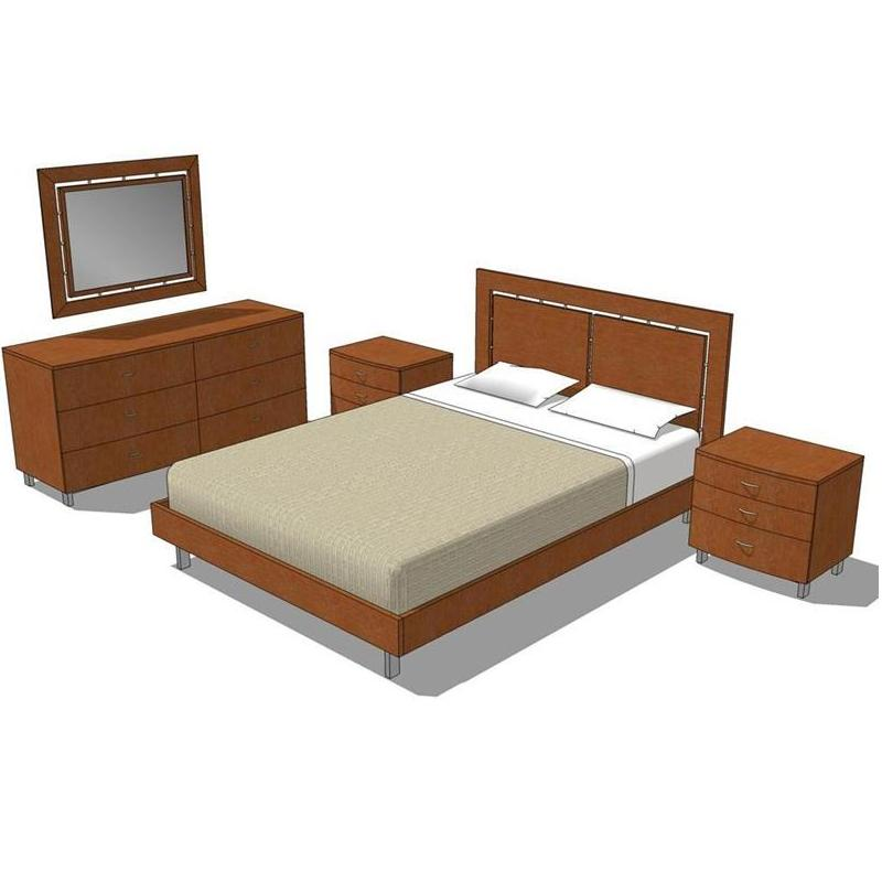 Como Bedroom Group. Shown in medium maple finish. ....