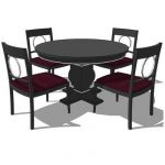Taylor Dining Set. Shown wih 4 chairs. Polycount i...